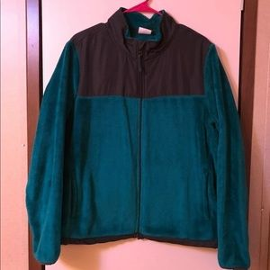 Danskin teal fleece jacket